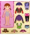 Ahşap  Kız Bebek Giydirme Oyunu